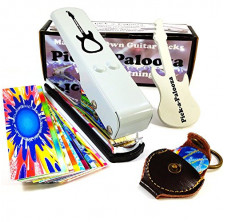 Pick-a-Palooza DIY Guitar Pick Punch Mega Gift Pack - the Premium Pick Maker - Leather Key Chain Pick Holder, 15 Pick Strips
