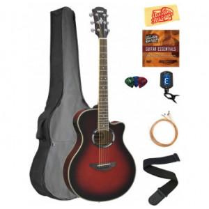 Yamaha APX500 Thinline Cutaway Acoustic-Electric Guitar - Dusk Sun Red Bundle with Gig Bag, Tuner, Strings, Austin Bazaar Ins