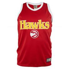 Majestic Atlanta Hawks Hardwood Classics Nba Sewn Lettering Sleeveless Jersey Mens Style: A9012-RED/WHT/YEL Size: XL
