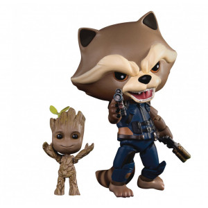 Beast Kingdom Guardians of the Galaxy 2: Egg Attack Action Eaa-049 Rocket with Kid Groot Figure