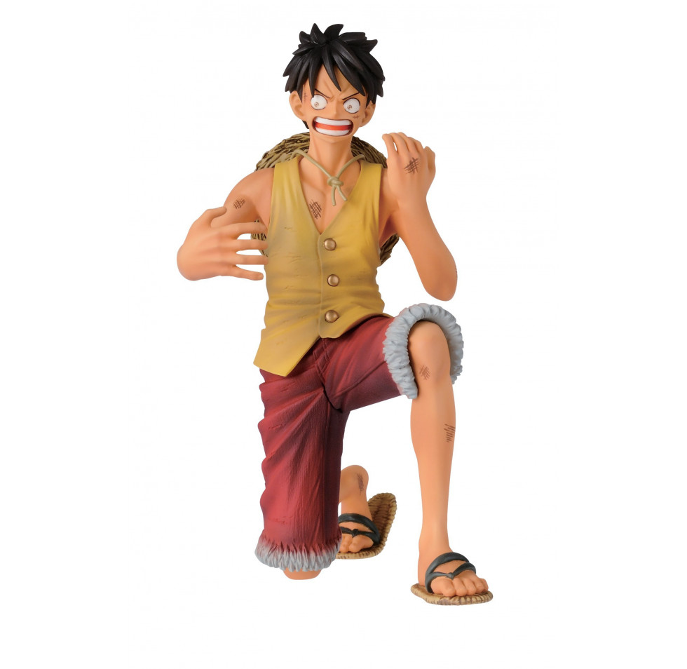 "Banpresto One Piece 4.7"" Luffy Figure, Dramatic Showcase"