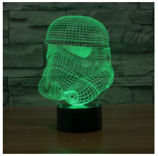 Star Wars Stormtrooper 3D 7-Color Gradual Changing LED Touch Switch Desklamp Nightlight( Clone Trooper Model)
