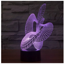 Urwise abstract art sculpture lamp, amazing 7 Colors optical illusion 3D LED light, USB power ZB-2876