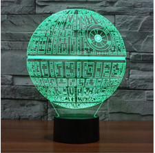 3D LED Night Light Lamps, 3D Optical Illusion 7 Colors Touch Table Desk Visual Lamp Gifts Toys for Children Kids