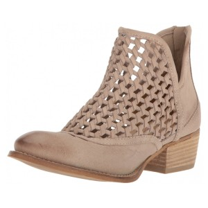Very Volatile Womens Hudsun Ankle Boot, Beige, 8.5 B US